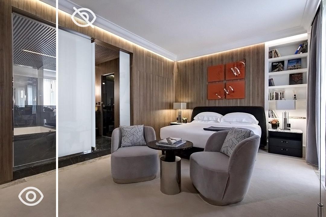 Vitrik | Smart Glass in the bathroom as a new trend in Hotel Design